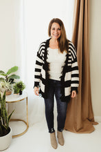 Load image into Gallery viewer, Distressed Striped Cardi