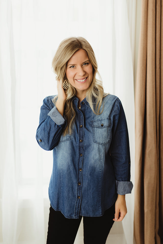 Denim Button Down