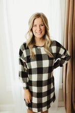 Load image into Gallery viewer, Checkers Sweater Dress