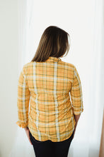 Load image into Gallery viewer, Mustard/Navy Flannel