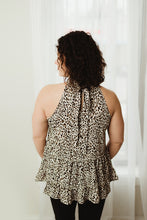 Load image into Gallery viewer, Leopard Halter Top