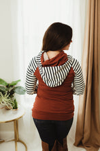 Load image into Gallery viewer, Striped Double Hoodie