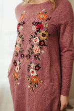 Load image into Gallery viewer, Floral Embroidered Knit Dress