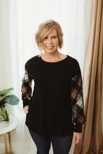 Load image into Gallery viewer, Plaid Raglan Tunic