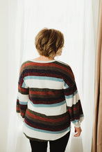 Load image into Gallery viewer, Stripe Puff Sleeve