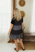 Load image into Gallery viewer, Stripe Colorblock Tiered Dress