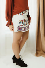 Frayed Embroidered Skirt