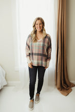 Load image into Gallery viewer, Plaid Knit Top