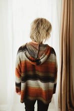 Load image into Gallery viewer, Striped Brushed Hoodie