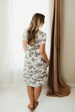 Load image into Gallery viewer, Camo Short Sleeve Dress