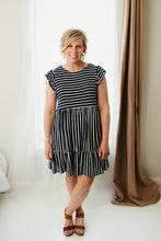 Load image into Gallery viewer, Striped Cap Sleeve Dress