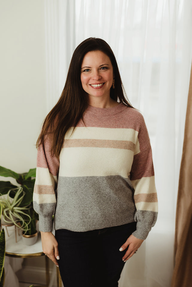 Casual Colorblock Sweater