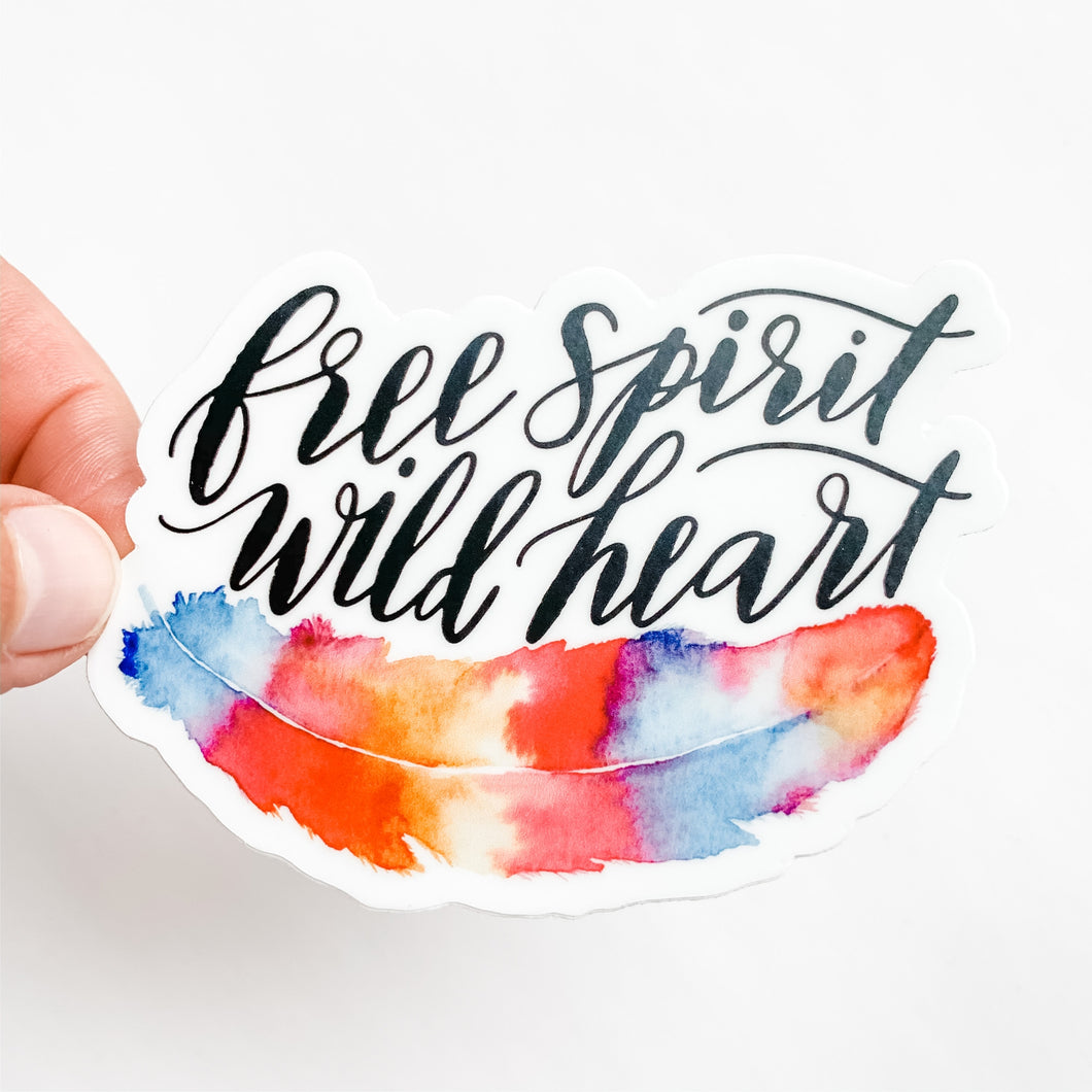 Free Spirit Wild Heart Sticker