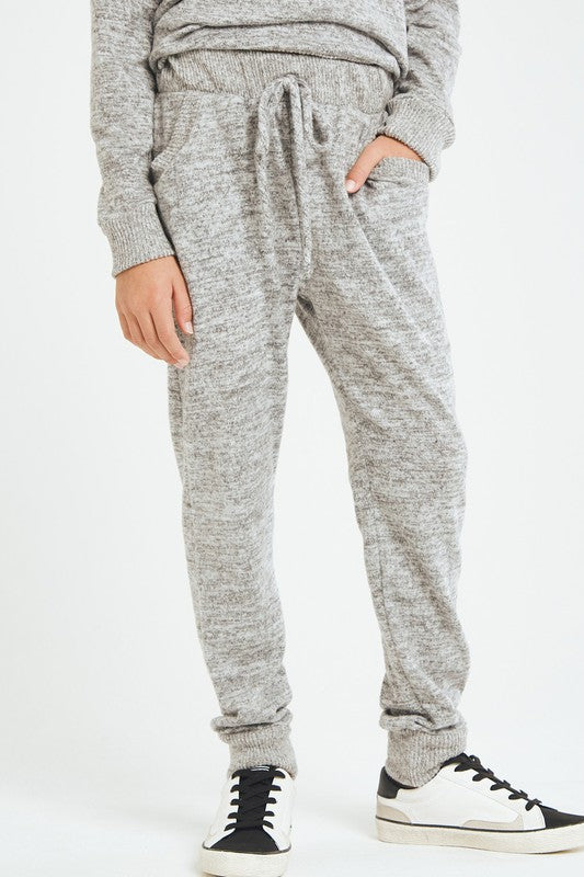 Girl's Brushed Knit Joggers