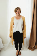 Load image into Gallery viewer, Side Slit Rib Cardi