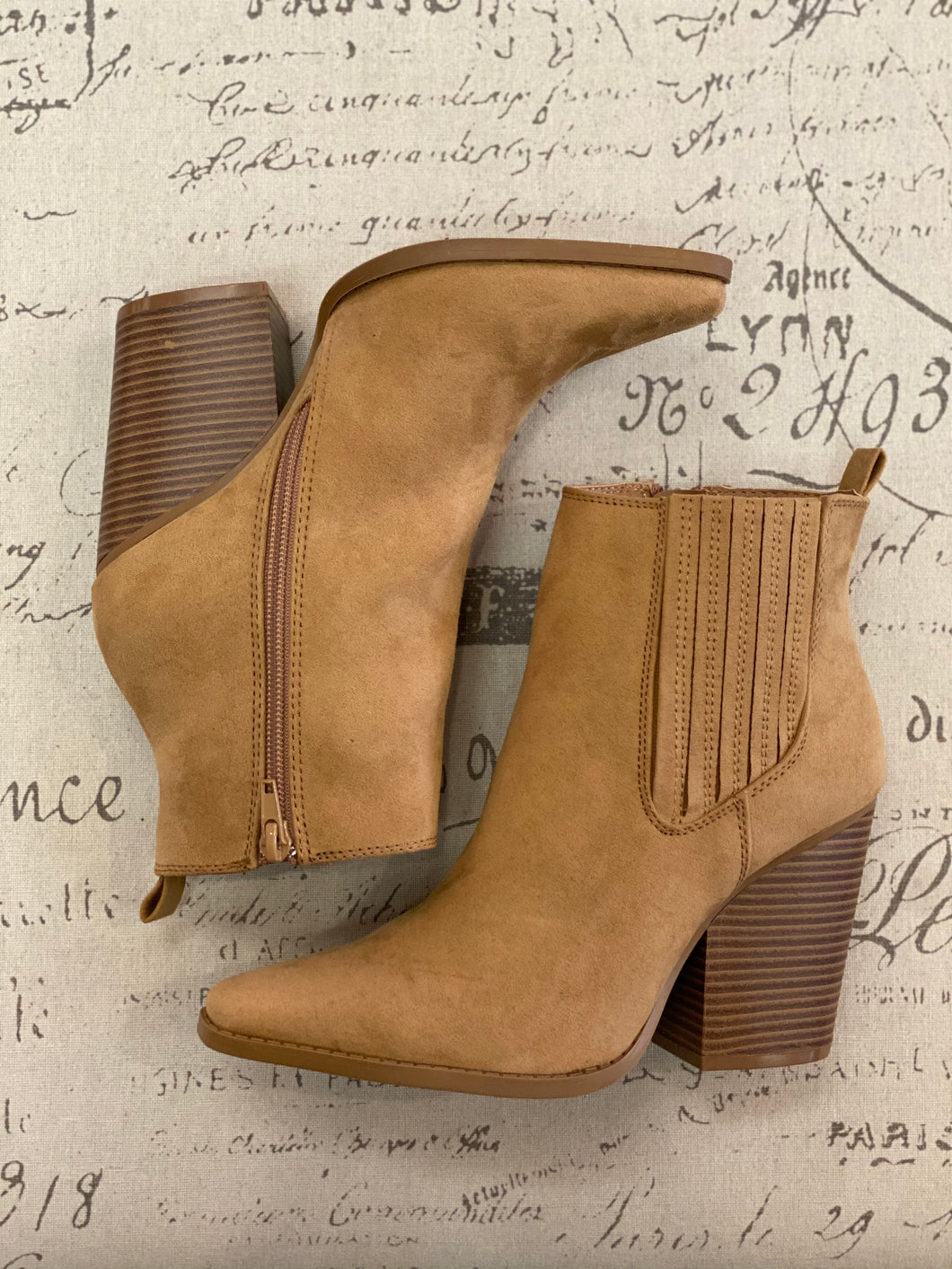 Chunky Heeled Booties