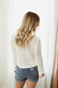 Solid Crop Sweater