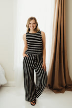 Load image into Gallery viewer, Stripe Sleeveless Jumpsuit