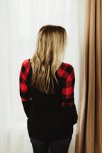 Plus Plaid Contrast Top