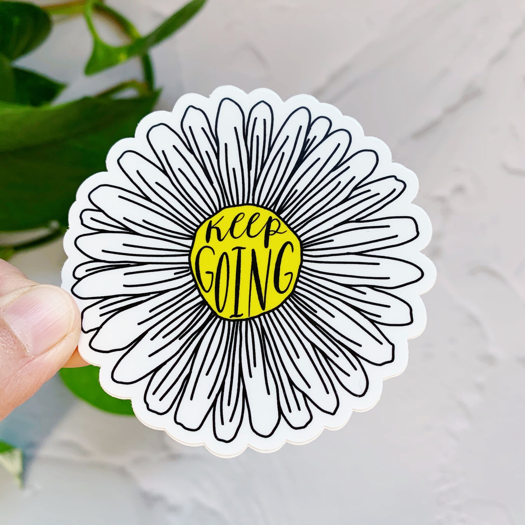 Keep Going Daisy Sticker