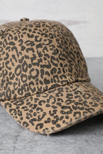 Load image into Gallery viewer, Leopard Distressed Cap