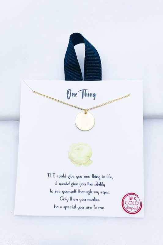 One Thing Necklace