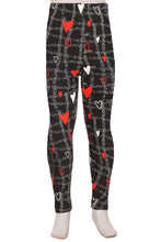 Load image into Gallery viewer, Girl's Valentines Leggings