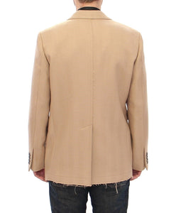 Beige Double Breasted Coat Jacket