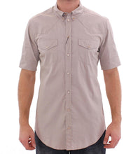 Beige Stretch Short Sleeve SICILIA Shirt