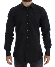 Black Checkered Slim Fit GOLD Casual Shirt