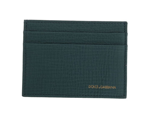 Aquamarine Dauphine Leather Card Holder