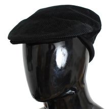 Black Cotton Newsboy Cap