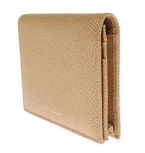 Beige Leather Dauphine Wallet