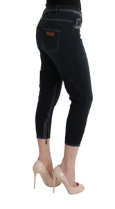 Black Cotton Stretch Baggy Jeans