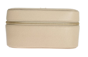 Beige Dauphine Leather Accessory Make Up Case
