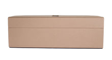 Beige Dauphine Leather Jewelry Accessory Case
