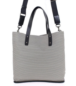 Beige cotton tote bag