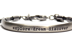 Bracelete You Inspire - Metal Escovado