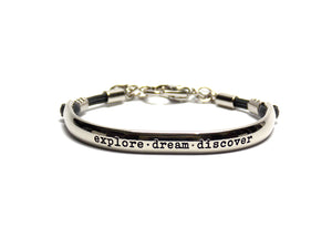 Bracelete You Inspire - Silver Chrome