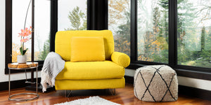 Canary Yellow - Fabric::Gallery::Yellow couch||one