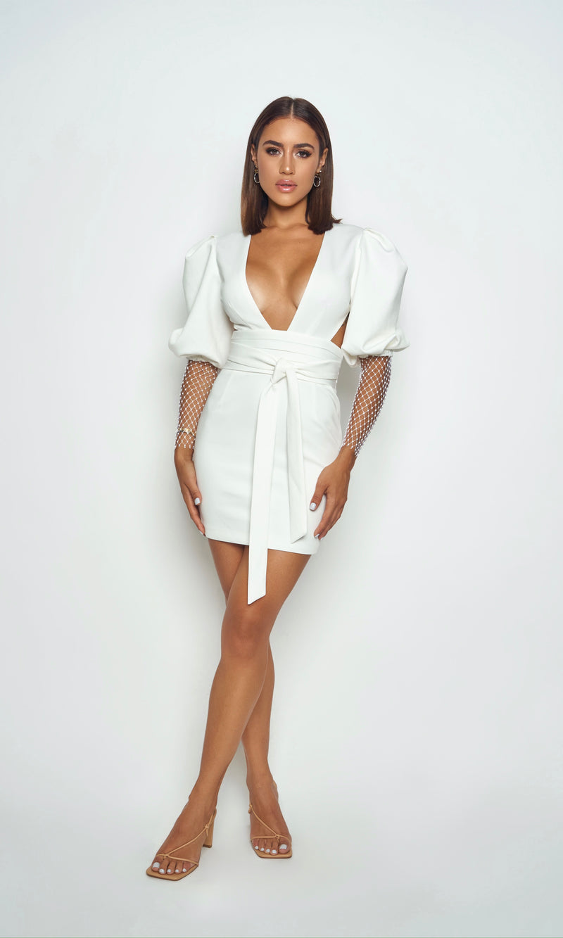 <br>VIOLA DRESS<h6>Balloon Sleeve Mini Dress</h6>