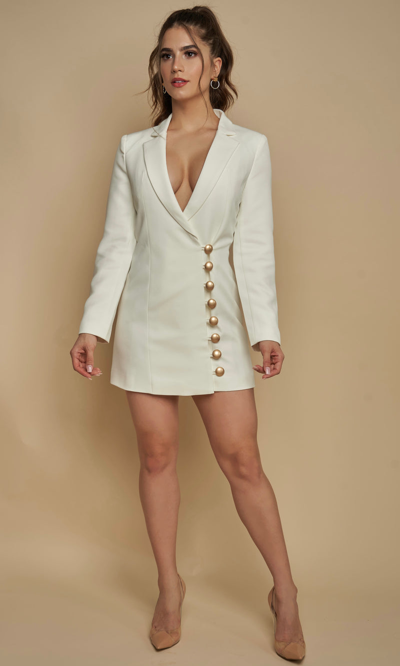 <br>GIA<h6>Plunging Neckline Blazer Dress</h6>