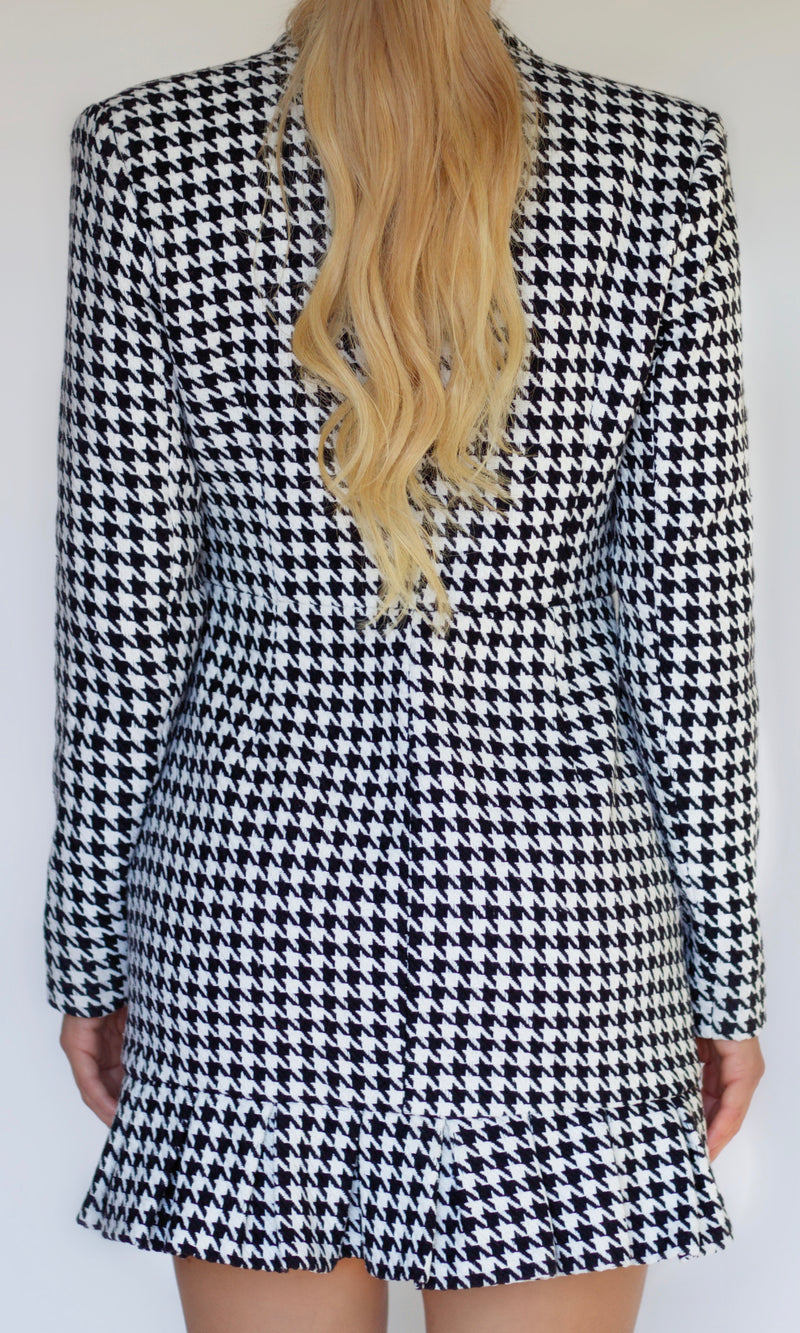 <br>DIANE BLAZER DRESS <h6>Tweed Button Down Blazer Dress</h6>