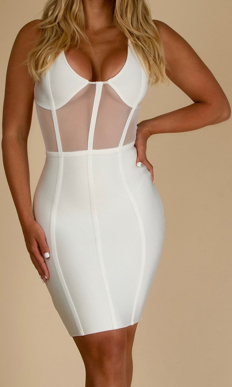 KASSANDRA CORSET<br><h6>White Bandage Mini Dress</h6>
