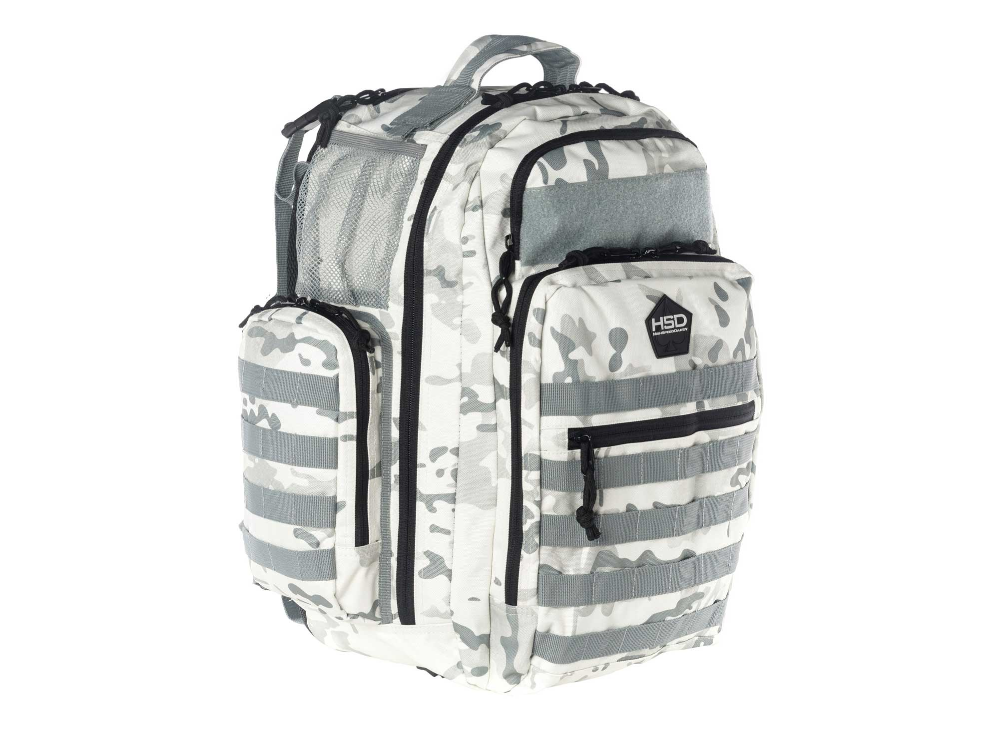 The New High Speed Daddy Snow Camo Diaper Bag Backpack Is Here!