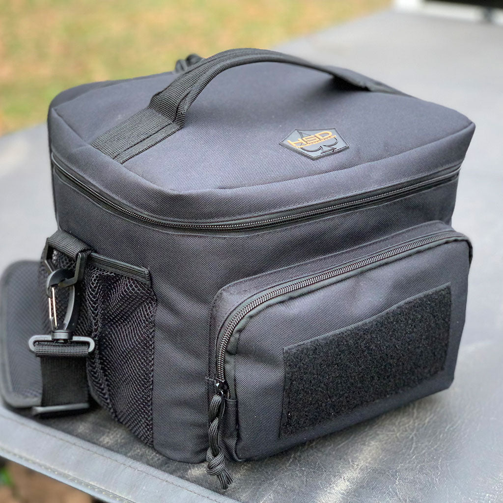 Tactical Lunch Bag - Black - View from Top Angle