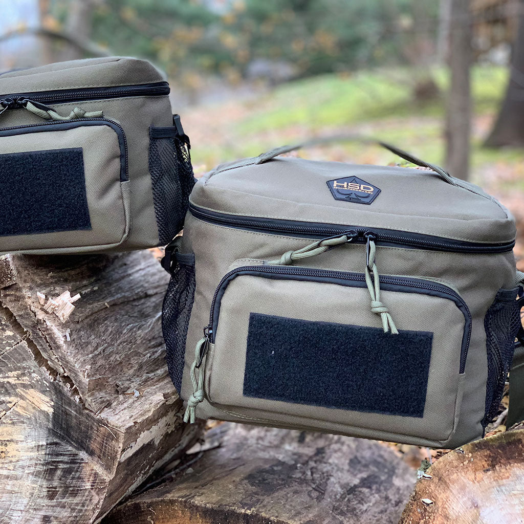 Two Tactical Lunch Bags Next to Each Other