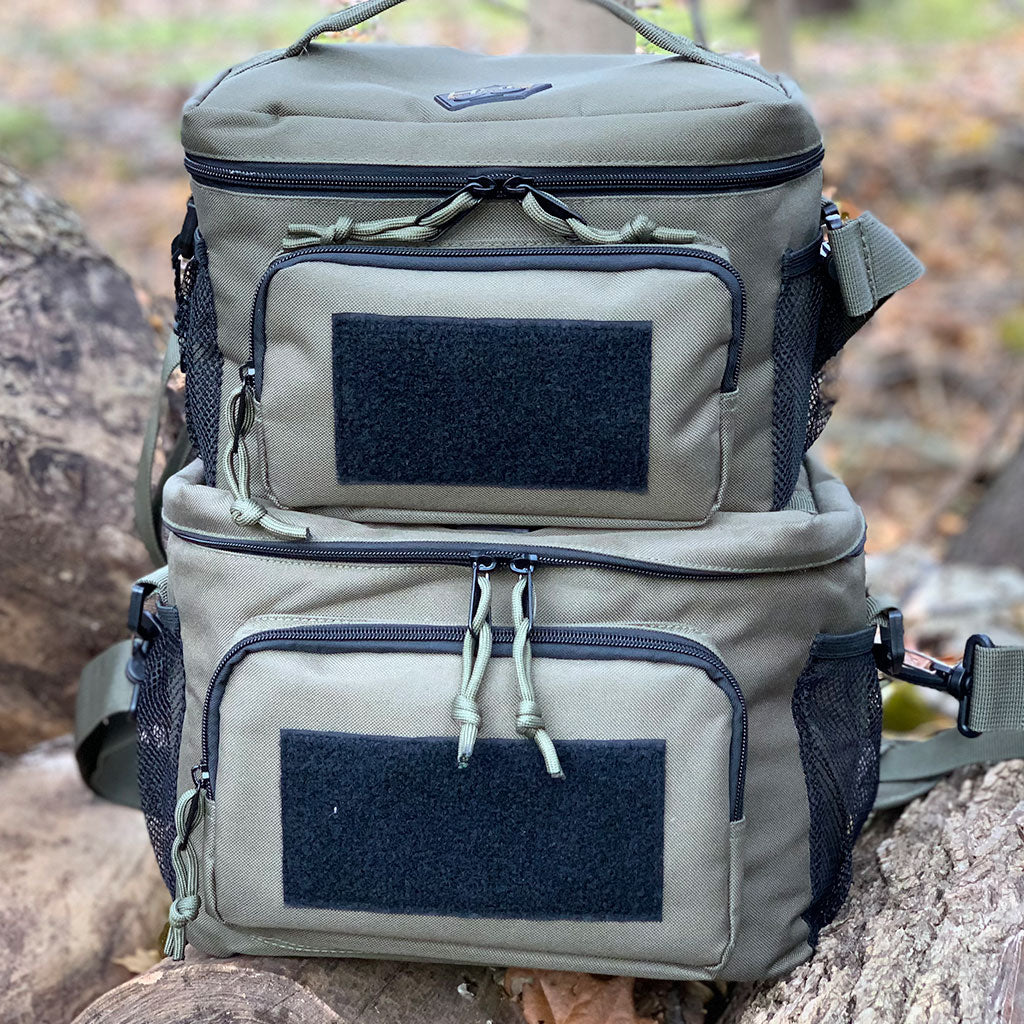 Two Tactical Lunch Bags Stacked on Top of Each Other