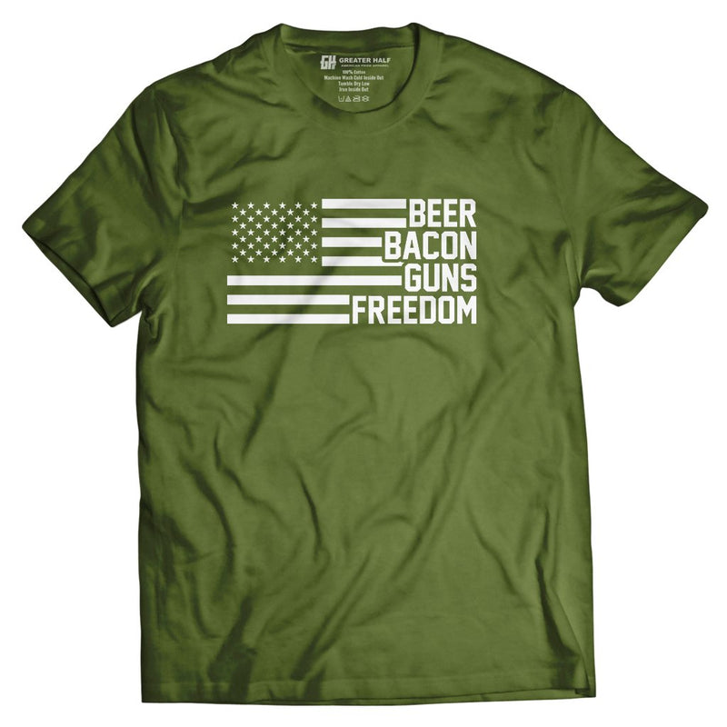 Beer Bacon Guns Freedom - Greater Half