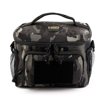 HSD Lunch Bag - Large Black Camo - Front